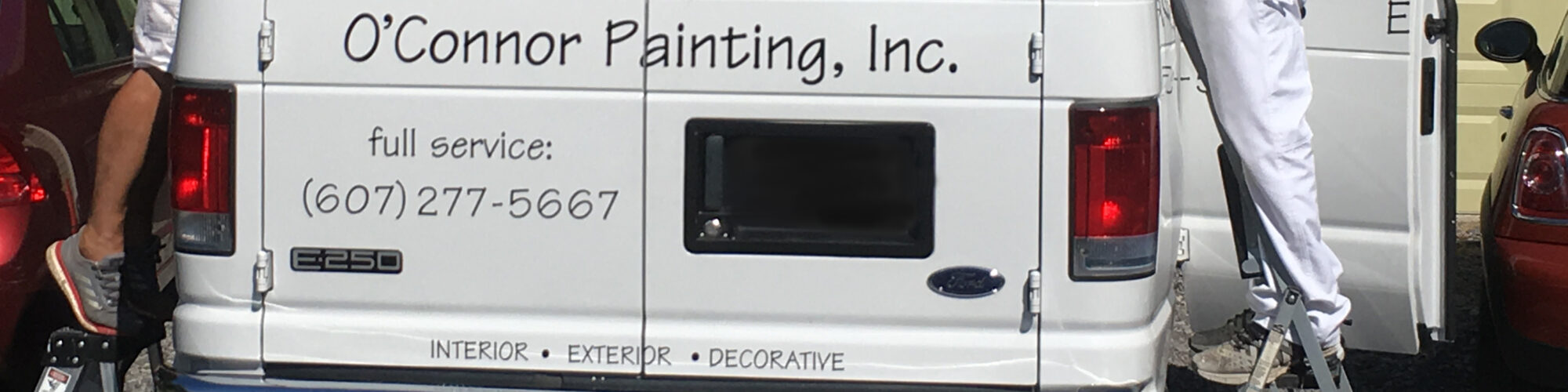 Back of Painting Truck